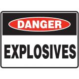 Mining Site Sign - Explosives