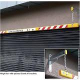 2m Height Bar with Text & Hangers - Optional Standoffs Brackets