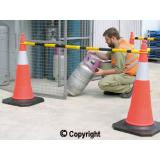 Reflective Traffic Cones with Retractable Bar
