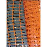 Orange Barrier Mesh Fence - 1m x 50m