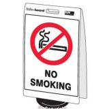 'No Smoking' Double Sided Info-Board - 600 x 450 mm