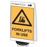 'Forklifts in Use' Double Sided Info-Board - 600 x 450 mm