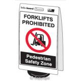 'Forklifts Prohibited...' Double Sided Info-Board - 600 x 450 mm