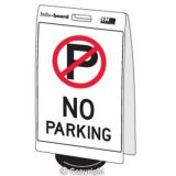 'No Parking' Double Sided Info-Board - 600 x 450 mm