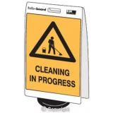 'Cleaning in Progress' Double Sided Info-Board - 600 x 450 mm