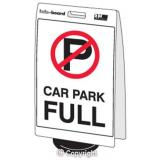 'Car Park Full' Double Sided Info-Board - 600 x 450 mm