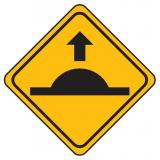 Site Safety Speed Hump Ahead Symbol Sign - 600 x 600 mm Reflective Metal