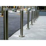 Core Drilled 90mm OD Stainless Steel Bollard -
