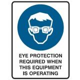 Mandatory Sign - Eye Protection Required When...