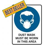 Mandatory Sign - Dust Mask Must Be Worn In This Area