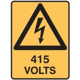 Electrical Hazard Signs - 415 Volts