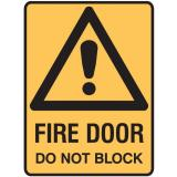 Warning Signs - Fire Door Do Not Block