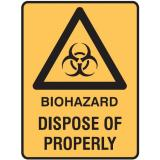 Medical Biohazard Signs - Biohazard Dispose Of Properly