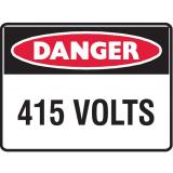 Mining Site Sign - 415 Volts
