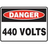 Mining Site Sign - 440 Volts
