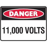 Mining Site Sign - 11,000 Volts