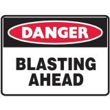 Mining Site Sign - Blasting Ahead