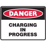 Mining Site Sign - Charging In Progress
