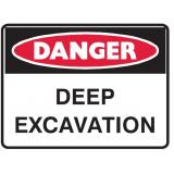 Mining Site Sign - Deep Excavation