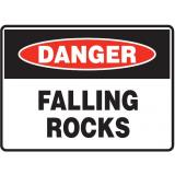 Mining Site Sign - Falling Rocks