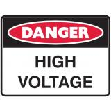 Mining Site Sign - High Voltage