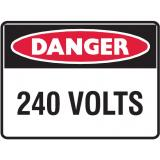 Mining Site Sign - 240 Volts