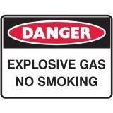 Danger Sign- Explosive Gas No Smoking