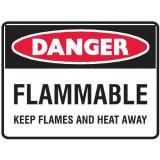 Danger Sign - Flammable Keep Flames And Heat Away