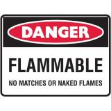 Danger Sign - Flammable No Matches Or Naked Flames