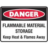 Danger Sign - Flammable Material Storage ...
