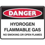 Danger Sign - Hydrogen Flammable Gas ...