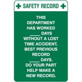 Safety Record This Department Has Worked ... - 300 x 450 mm - Metal