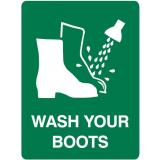 Emergency Signs - Wash Your Boots