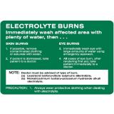 Emergency Signs - Electrolyte Burns Immediately Wash ...