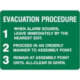 Emergency Signs - Evacuation Procedure