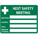 Emergency Signs - Next Safety Meeting