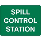 Emergency Signs - Spill Control Station