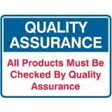 All Products Must Be Checked By Quality Assurance - 350 x 250 mm - Poly
