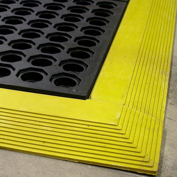 Yellow Kitchen Mats: Kitchen Cushion Foot Black Anti-fatigue Mat