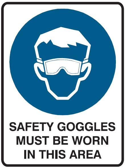 the gallery for gt science safety goggles symbol