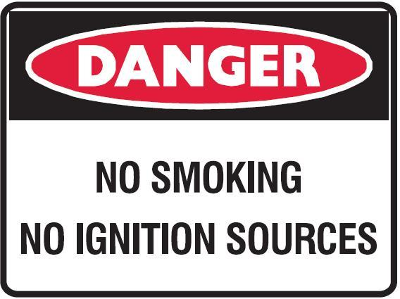 No Smoking No Ignition Sources