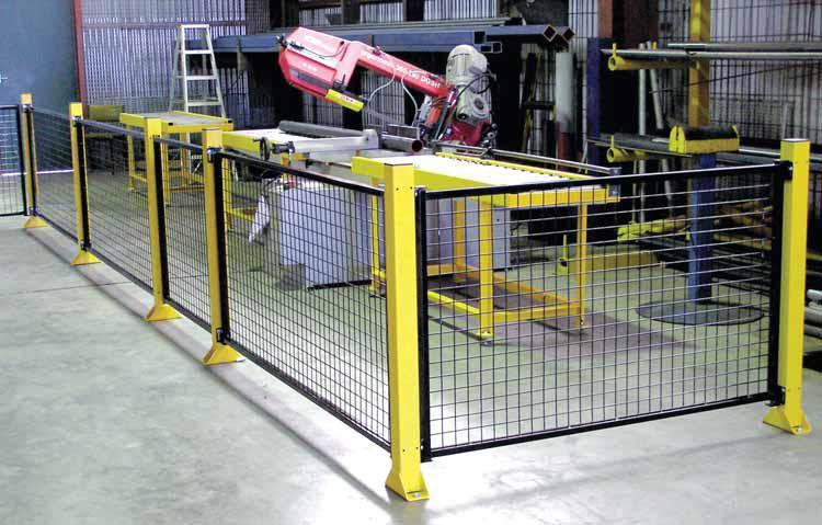 Double Height Mesh Safety Fence With Steel Posts